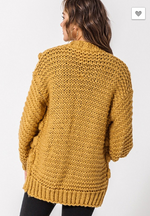 Call it Cozy Mustard Cardigan