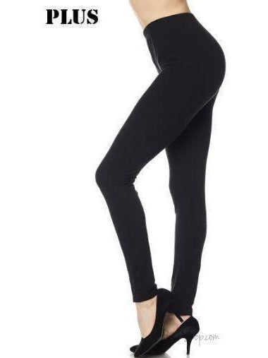 Brushed Solid Ankle Leggings Large-XL