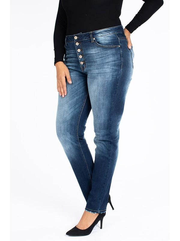 Plus KanCan High Rise Super Skinny Button Fly Jeans