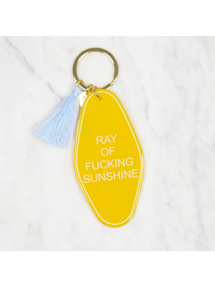 Ray of Fucking Sunshine Retro Style  Key chain