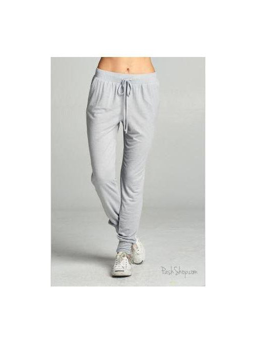 Silver/Gray  Semi Loose Fit Relaxed Joggers