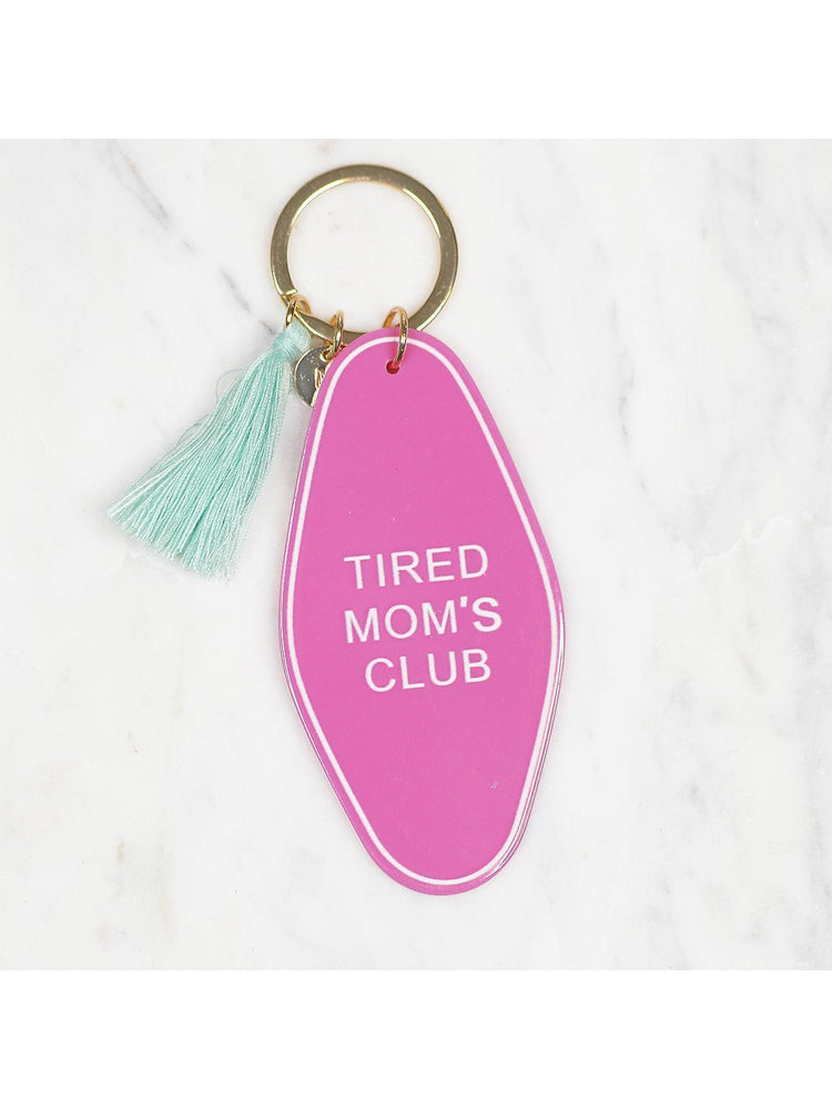 Tired Moms Club Retro Style  Key chain