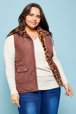 Walk on the Wide Side Leopard Vest - Plus