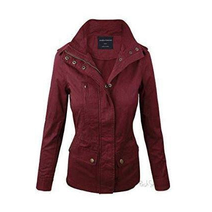 Women's Wine Lightweight Utility Jacket