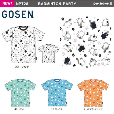 Gosen Pochaneco BADMINTON PARTY UNI T-shirt NPT28