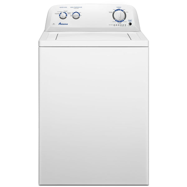 AMANA NTW4516FW 3.5 cu. ft. Top Load Washer with Dual Action Agitator-Free Delivery, Installation, New Fill Hoses and Removal of old washer