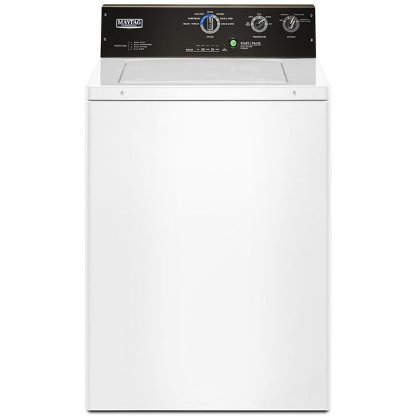 MAYTAG MVWP575GW 3.5 cu. ft. Commercial-Grade Residential Top Load Agitator Washer-5 Years Parts and 5 Years Labor Factory Guarantee-Free Delivery, Installation, New Fill Hoses and Removal of old washer