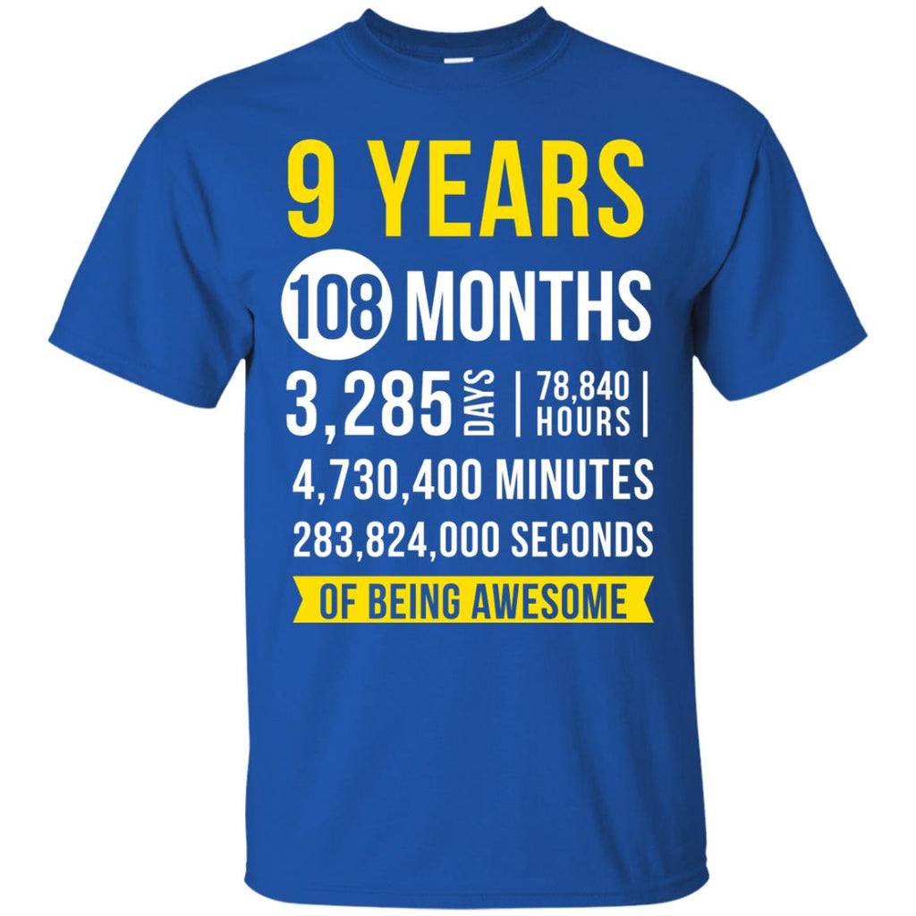 9th Birthday Shirt Nine Years Old Being Awesome Party Gift