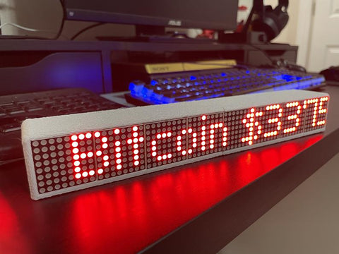 "10"" Crypto Coin Price Ticker Matrix Display Wi-Fi - Cryptocoindisplay"