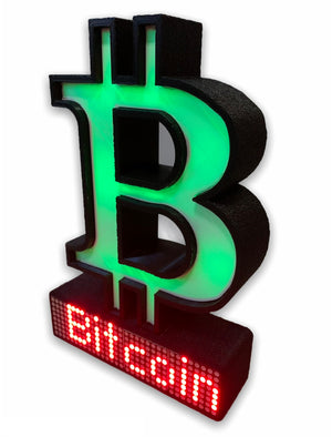 Bitcoin Crypto Coin Price Ticker Display - Crypto Coin Display