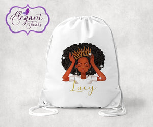 Personalised Melanin Princess P.E Bag