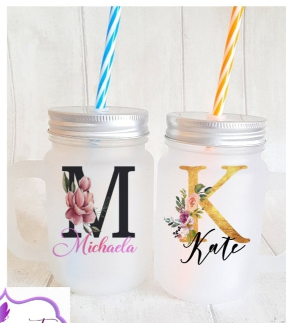 Personalised Initial Mason Jar