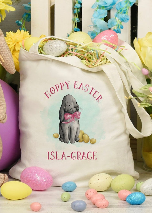 Bunny Bow Hoppy Easter Tote Bag