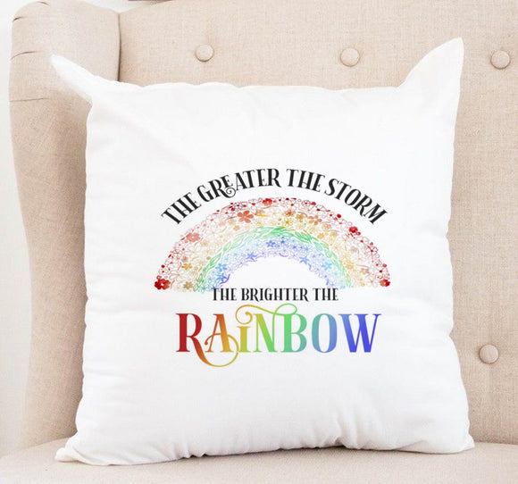 Rainbow After the Storm Cushion