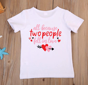 Children's All Because Two People Fell In Love T-Shirt