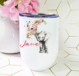 Floral Elephant Wine Tumbler Gift Box