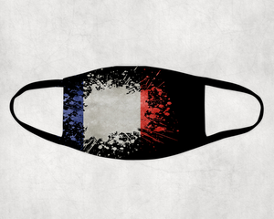 French Flag Splash Face Covering