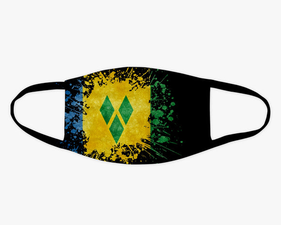 St. Vincent Flag Splash Face Covering