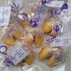 Baby Shower Chocolate Covered Fortune Cookies