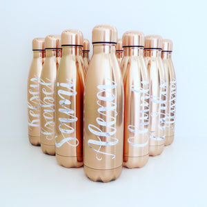 Rose Gold Personalised Bottle Flask
