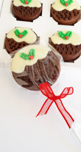 Christmas Pudding Chocolate Lolly