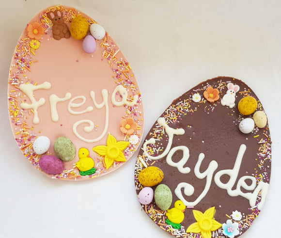 Personalised Chocolate Egg Plaque