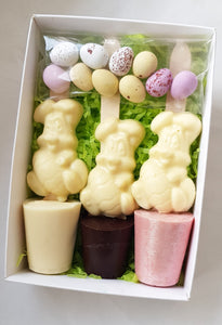 Easter Bunny Hot Chocolate Spoon Trio Box