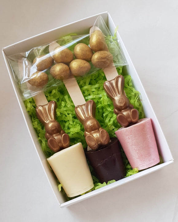 Golden Bunny Hot Chocolate Spoon Trio Box