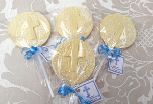 Christening Confirmation Chocolate Lolly