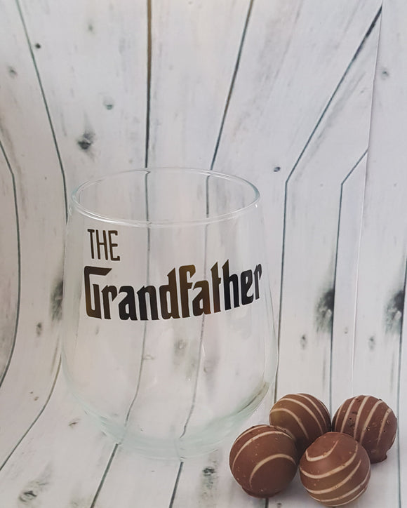Grandfather Stemless Wine Glass