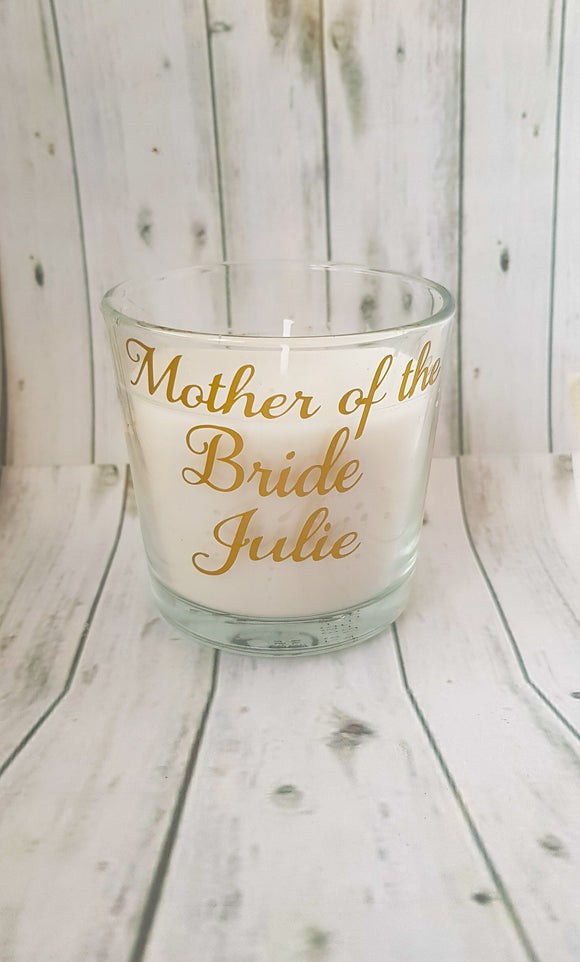 Personalised Wedding Candle