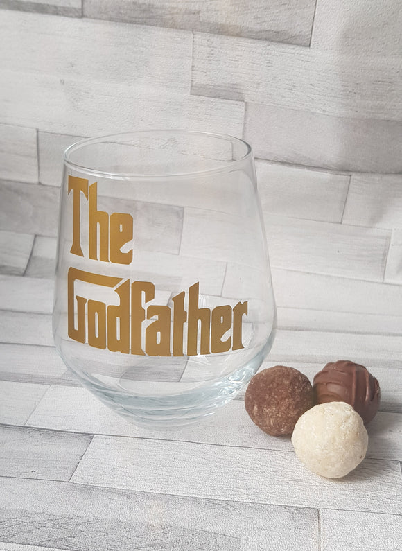 Godfather Stemless Wine Glass