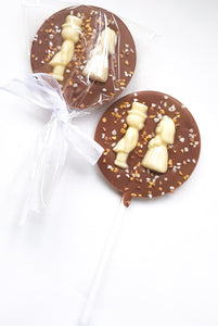 Bride & Groom Chocolate Lollies
