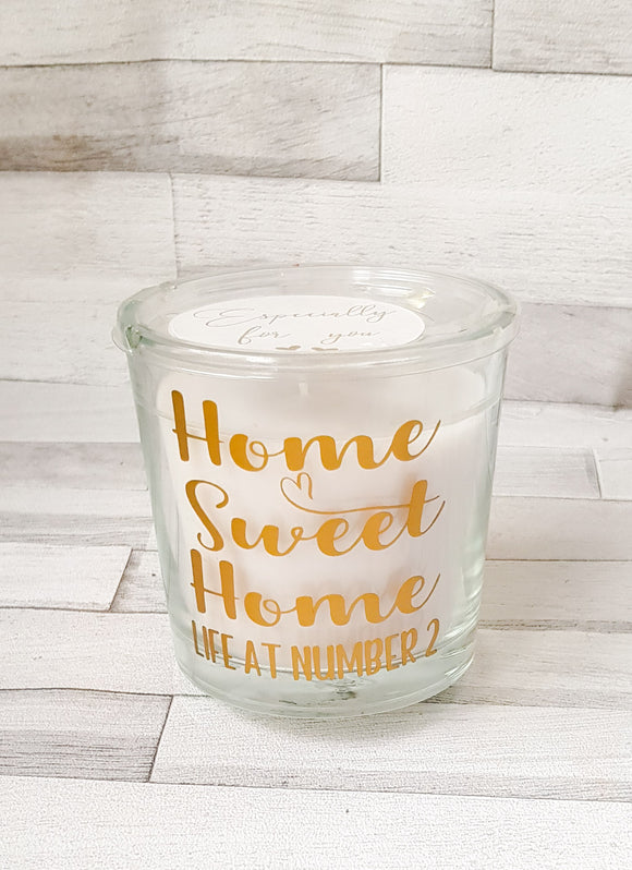 Personalised Home Sweet Home Candle