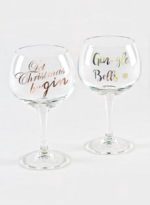 Christmas Gin Glasses