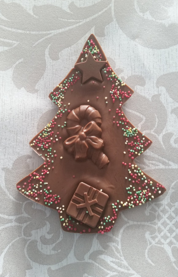 Decorated Chocolate Tree Bar