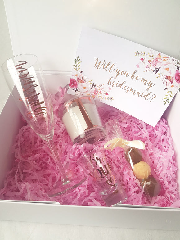 Wedding Party Proposal Gift Box