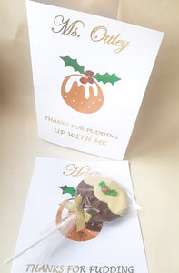 Christmas Pudding Chocolate Card