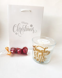 Large Vanilla Christmas Candle Set