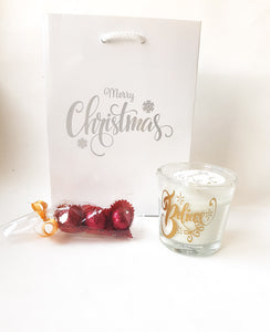 Small Vanilla Christmas Candle Set