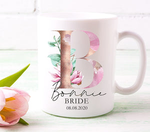 Magnolia Initial And Role Printed Mug