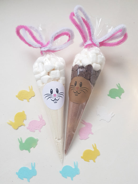 Easter Bunny Hot Chocolate Cones