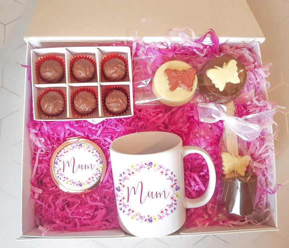 Butterfly Mug & Chocolate Treat Box