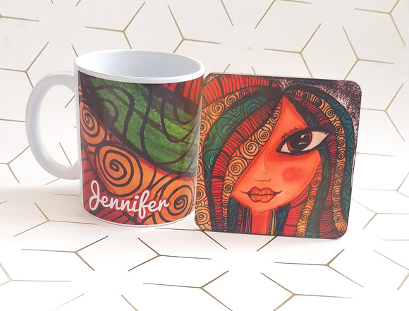 Colourful Locks Mug