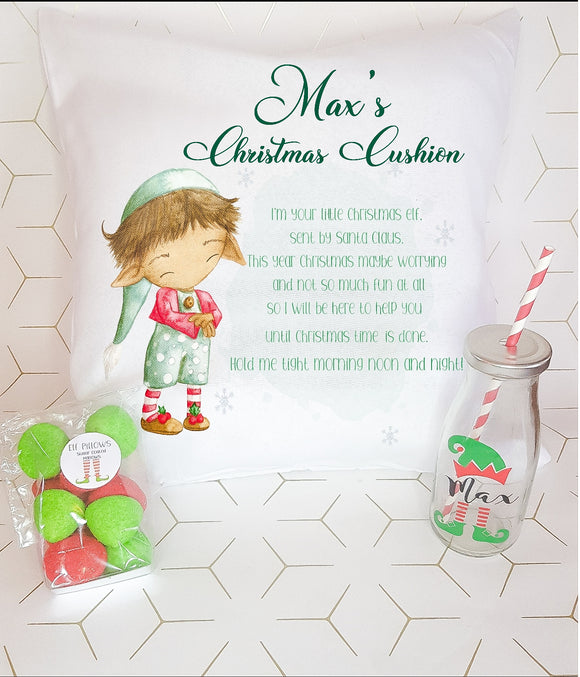Elf Christmas Worry Cushion