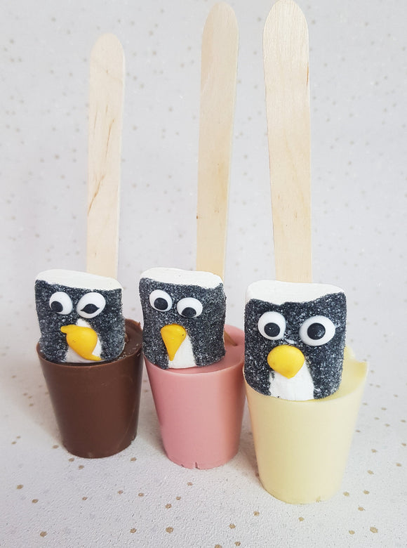 Penguin Mallows Hot Chocolate Spoons