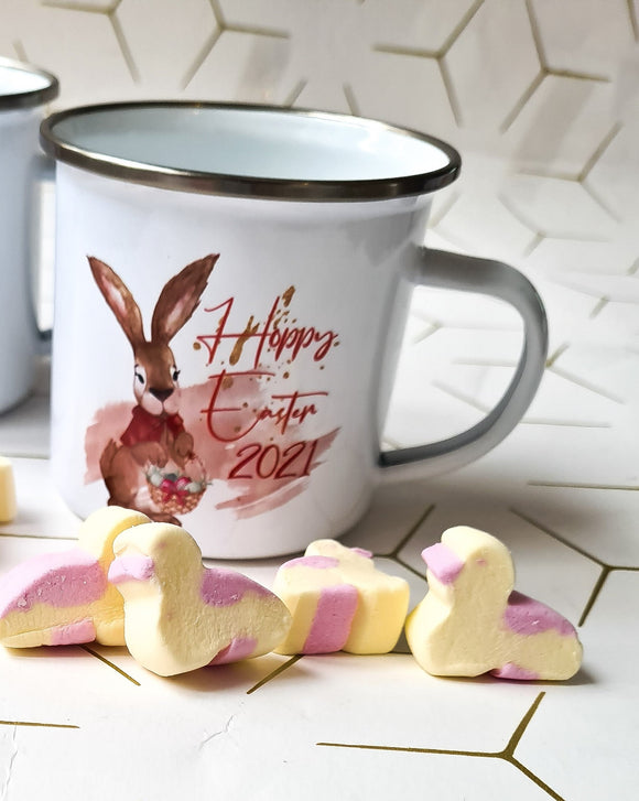 Rabbit Happy Easter Enamel Mug