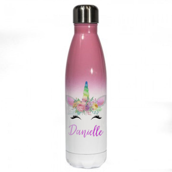 Personalised Unicorn Printed Bottle Flask
