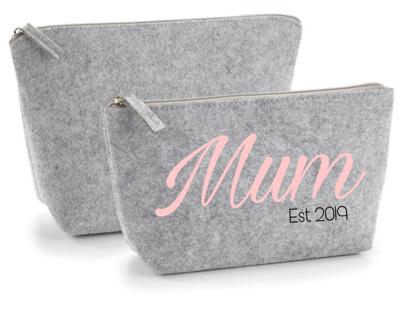 Mum Est. Grey Accessory Bag