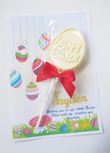 Dairy and Soya Free Personalised Easter Chocolate Card